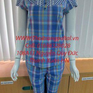Bộ đồ mặc nhà hè s3068 xanh