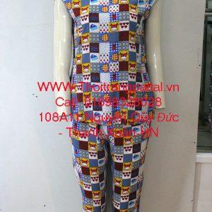 Bộ đồ lanh mặc nhà bi xám đậm 1644018