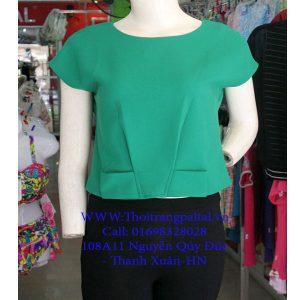 áo sơ mi nữ công sở màu xanh