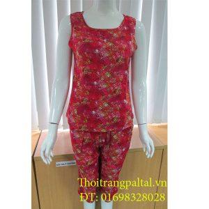 Bộ quần áo mặc nhà lanh wonnerful sen đậm l925