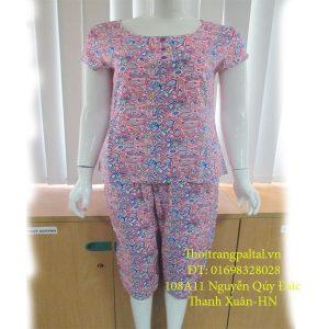 mua bộ quần áo lanh tím L927 cộc tay quần ngố