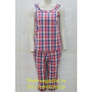 Bộ đồ mặc nhà cotton wonnerful sát nách quần ngố 3071s