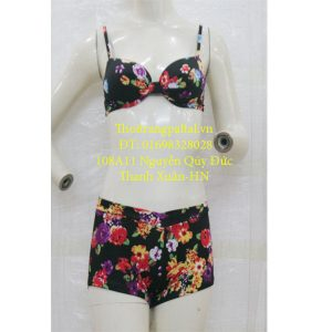 bộ áo tắm bikini hoa đen