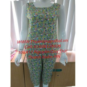 Bộ đồ mặc nhà hè lanh L918N xanh