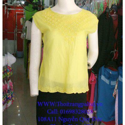áo sơ mi nữ kiểu màu vàng