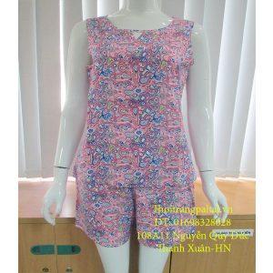 Mua bộ quần áo lanh online L929 màu tím
