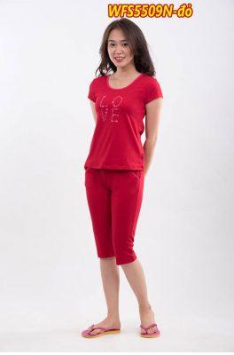 Bộ đồ cotton xuân hè wonnerful WFS5509N màu đỏ