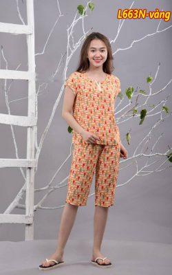 Bộ mặc nhà lanh L663N - màu tím sen
