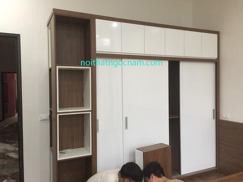 tủ quần áo gỗ công nghiệp MDF melamine