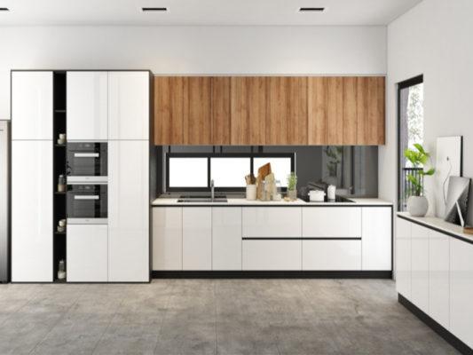 tủ bếp acrylic và lamine loại nào tốt hơn