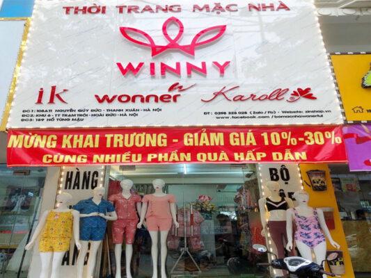 Cửa hàng quần áo mặc nhà winny Hồ Tùng Mậu - Hà Nội